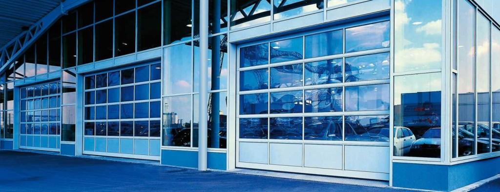 Панорамные промышленные ворота фото
