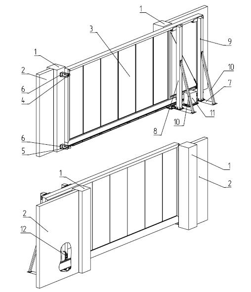 Откатные ворота Алютех (Alutech) - фото