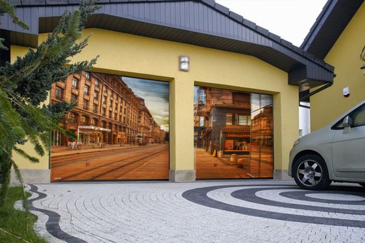 Цифровая печать на воротах - новый тренд рынка гаражных ворот - фото